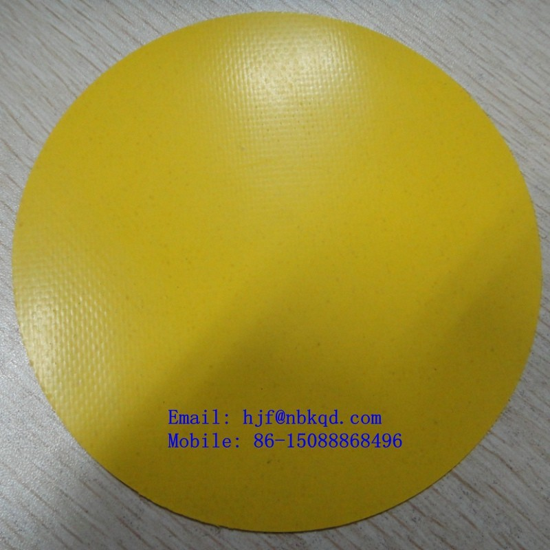 Ripstop Nylon Reinforced Yellow Hypalon Fabric for Airport Air Duct