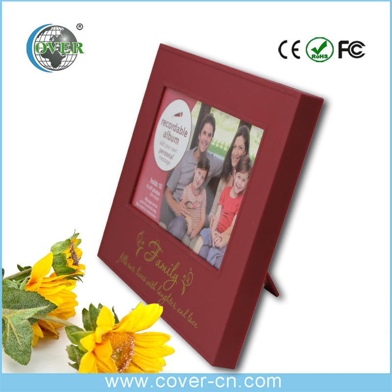 Home decor best gift custom digital photo frame with music and voice recordable