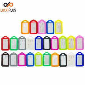 Luckiplus Colorful Luggage Tag Travel Essential Name Address Card Holder