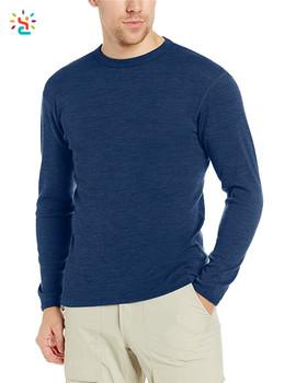3ec89b22fee65f Classic merino wool tshirt blank tees mens merino wool t shirt crew neck tee  long sleeve