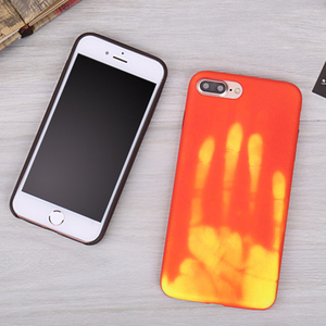 New magical thermal temperature color change thermal heat sensitive induction TPU phone case for iphone 7/8 Plus