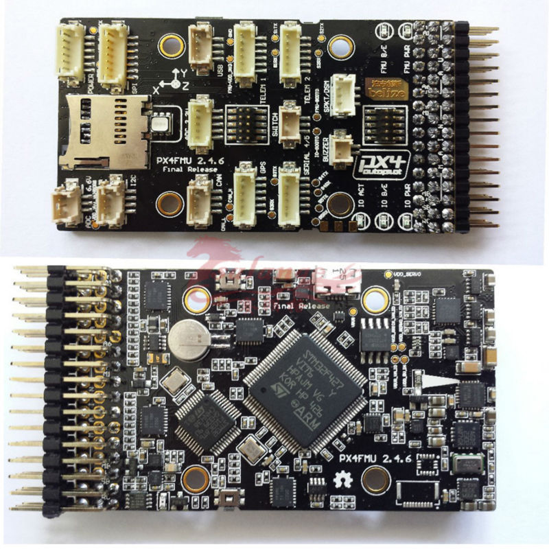 Newest PX4 Pixhawk V2.4.6 32Bits Open Source Flight Controller w/External LED for RC Airplanes By Salange