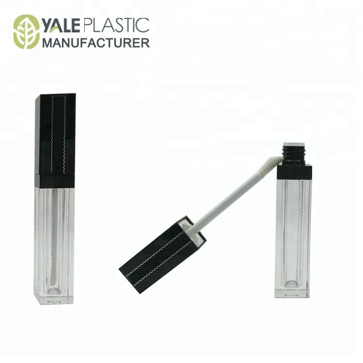 square transparent empty lip gloss tube container DIY lip glaze tube make up packaging