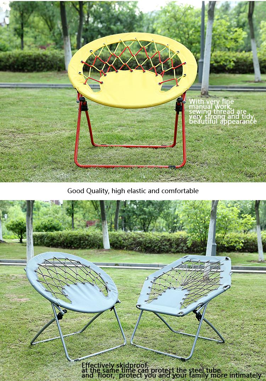 Folding Metal Moon Chair Bungee Chair Mesh Chair