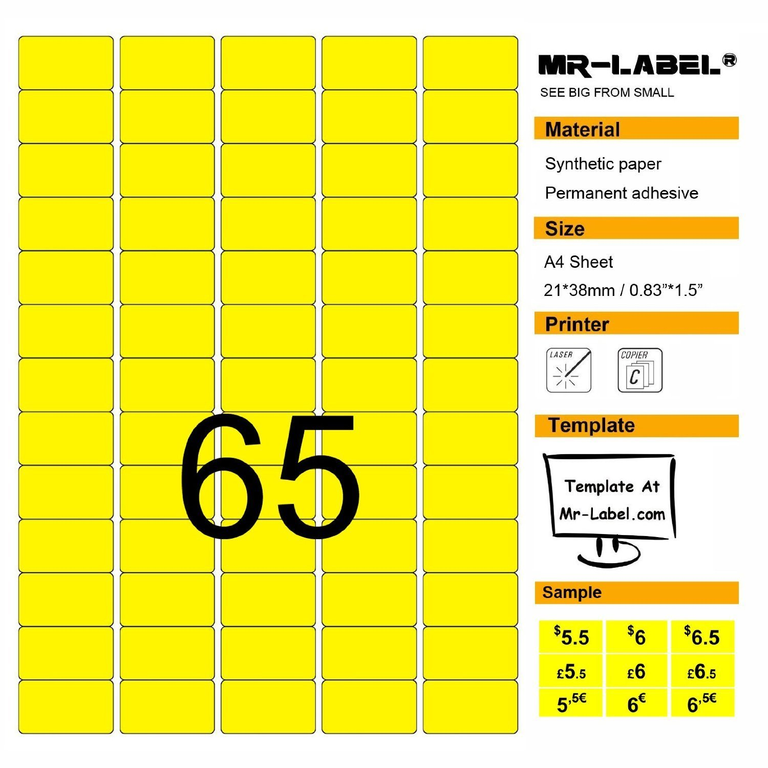 stock bright center stickers sale image garage label in with various blank denomination yellow generic photo