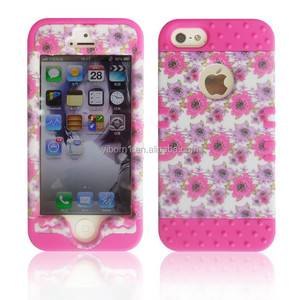 Mobile Phone 3 in 1 Impact Tuff Hybrid Case Cover for Apple iPhone 4 4S 5 5S 6 6 Plus
