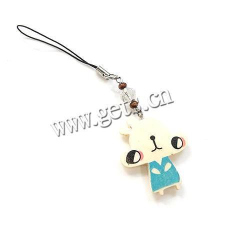 Gets.com wood cell strap key charm