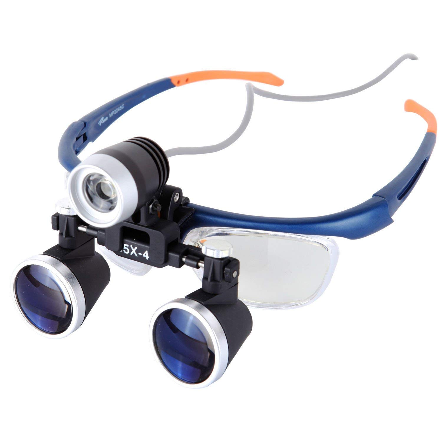 2086528ec4b8 Get Quotations · ELEOPTION Headset Magnifying Glasses With LED Headlight  Lamp Magnifier Loupe For Dental Surgical Binocular Loupes Glasses