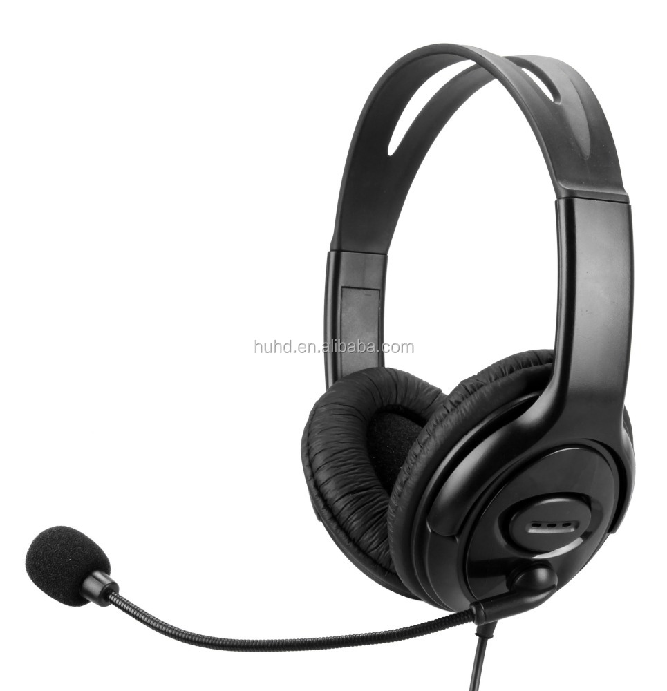 Wired video gaming stereo headphone headset with microphone overhead for PS3 xbox360 PS4 Xbox one PC Wii MAC