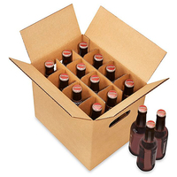 corrugated paper cardboard 24 bottle wine beer shipping carton box