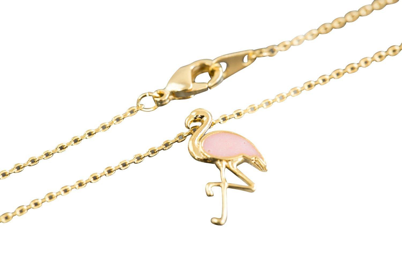 18 Bicone Crystal Necklace Silvertone Hot Pink Flamingo