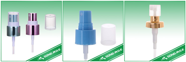 Aluminum closure nasal pump spray for medical use