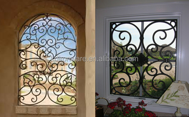 Simple House Window Decor Security Wrought Iron Metal
