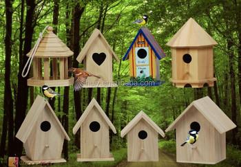 Pin Massif Bois Oiseau Maisons Peintes Couleur Bois Cage A Oiseaux Bois Nid D Oiseau Peinture Couleur Buy Cage A Oiseaux En Bois Maisons A