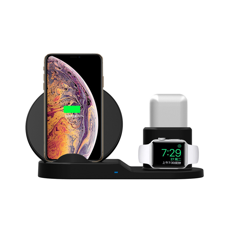 Latest 3in1 QI standard wireless charger designed for <strong>apple</strong> products
