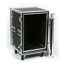 Shockmount 16U 20 inch Depth Amp Rack Case with Casters