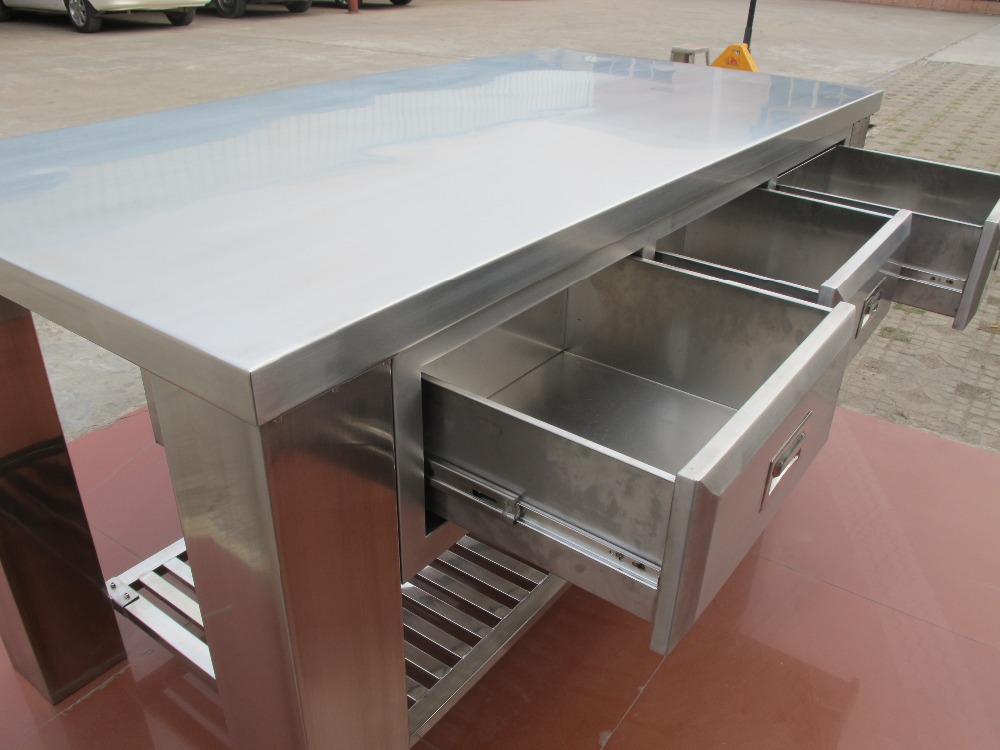 Arbeitstisch Mit Schubladen/küche Edelstahl Arbeitstisch/gebraucht  Stahl-tabelle - Buy Verwendet Stahl-tabelle,Küche Aus Edelstahl ...