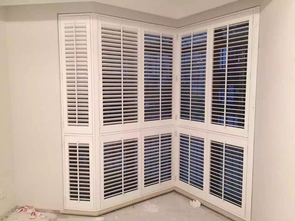 Customized Size Victorian Window Shutters Wooden Louver