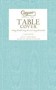 Get Quotations · Entertaining With Caspari Moire Printed Paper Table Cover,  54 By 84 Inch, Mediterranean