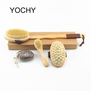 New! Soft Mild Fiber Full Body Beauty Brush Skin Pore Care Bath Brush Dismountable Long Handle Scrubber Bath Brush Set