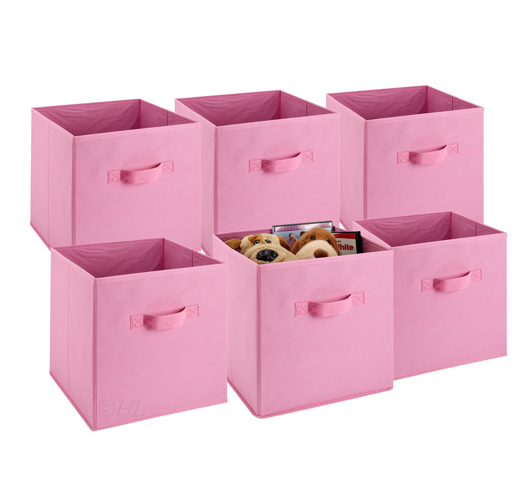 Get Quotations · Foldable Cube Storage Bins   6 Pack   These Decorative Fabric  Storage Cubes Are Collapsible And