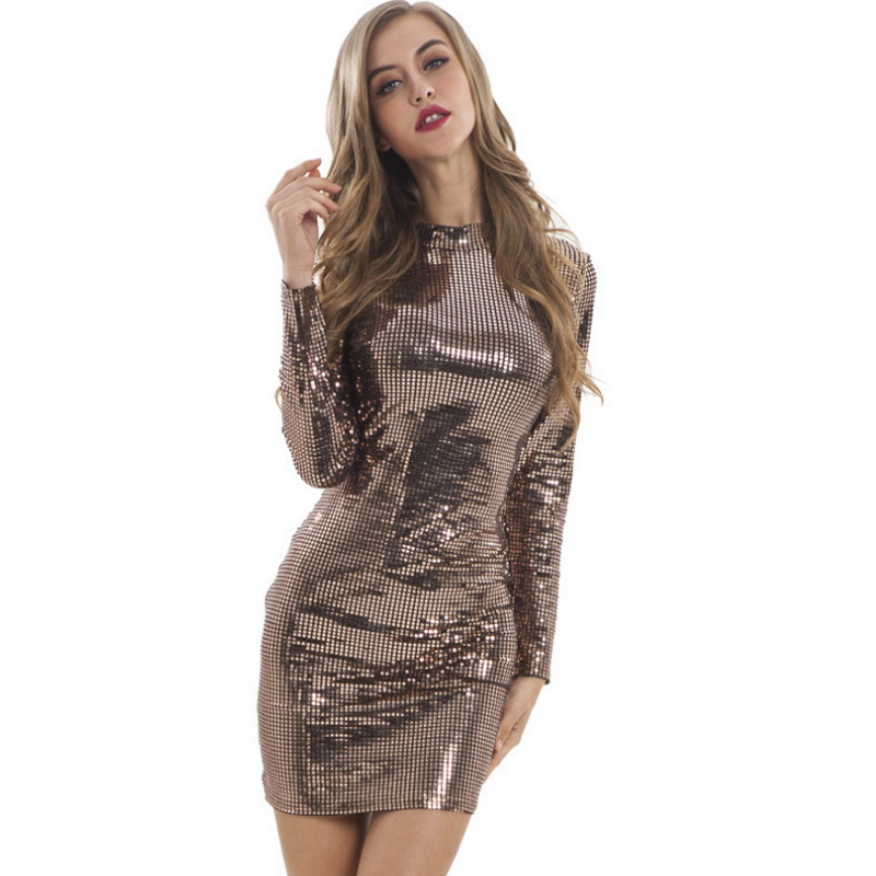 Wholesale Sexy Women Dress Fashion Sequin Plus Size Club Bodycon Dresses Short Slim Lady Party Clothes