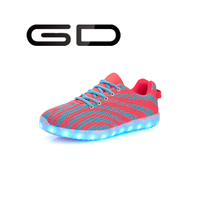 women and men running shoes popular LED sneakers sole light footwear