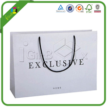 Discount Branded White Kraft Paper Shopping Bags