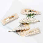 Fashion Simple Pearl Hair Clips For Women Bride Wedding Decorations Pearl Hairpins Hair Accessories