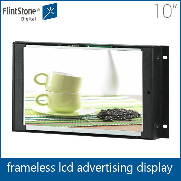 Flintstone 10 inch monitor frameless lcd screen video wall outdoor digital tv sign