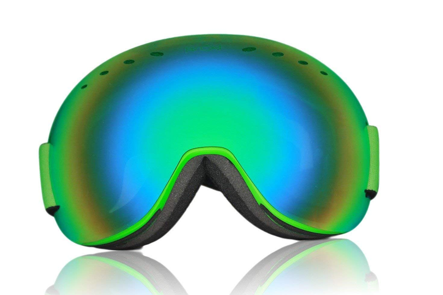 6b5629035f22 Get Quotations · Far Out Sunglasses Snowboard Ski Snow Googles Expose  Goggles Neon Green - Green Lens