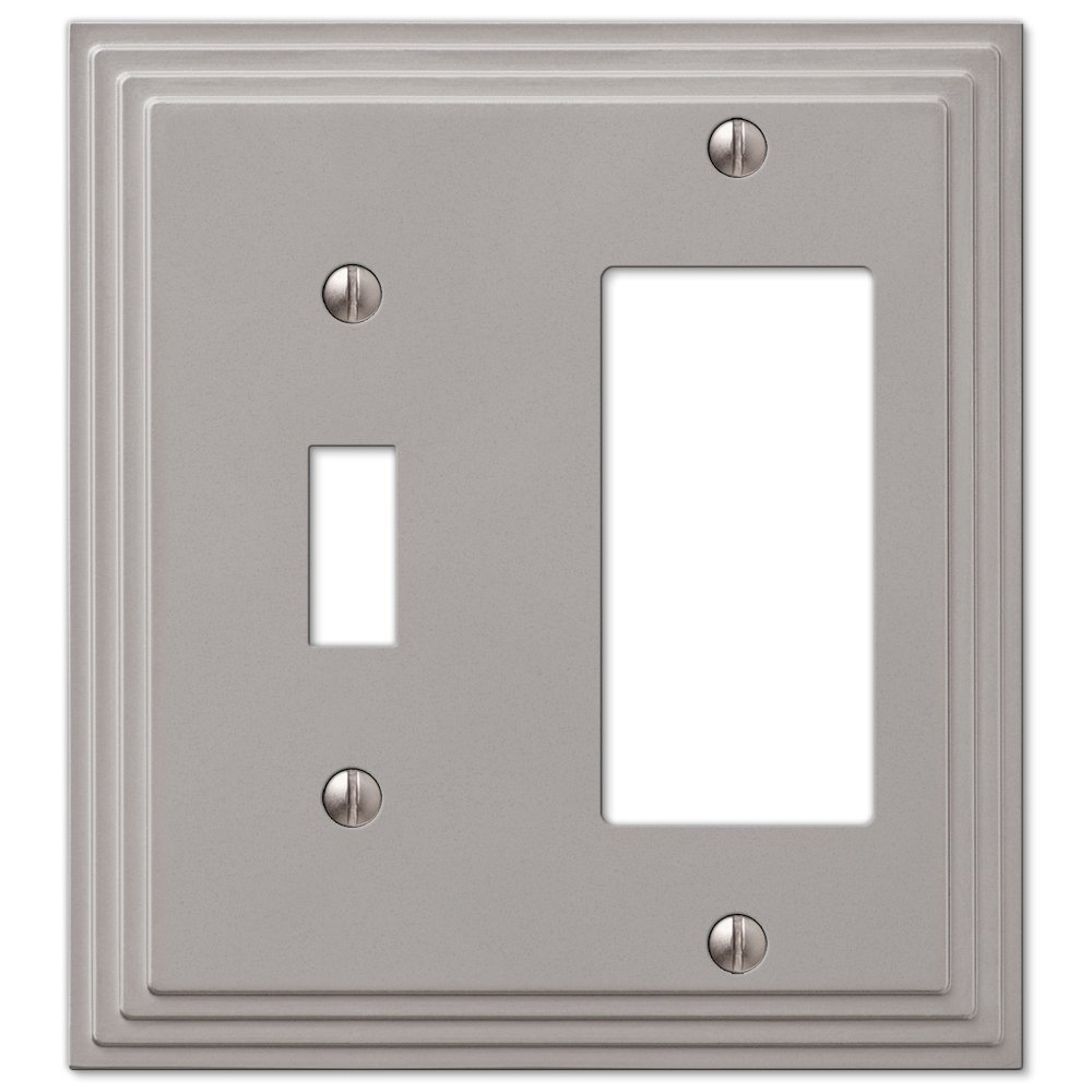 Cheap Decora 3 Way Switch Find Deals On Line At For Outlet Get Quotations Combination Toggle Gfi Rocker Cover Wall Plate Satin Nickel Finish