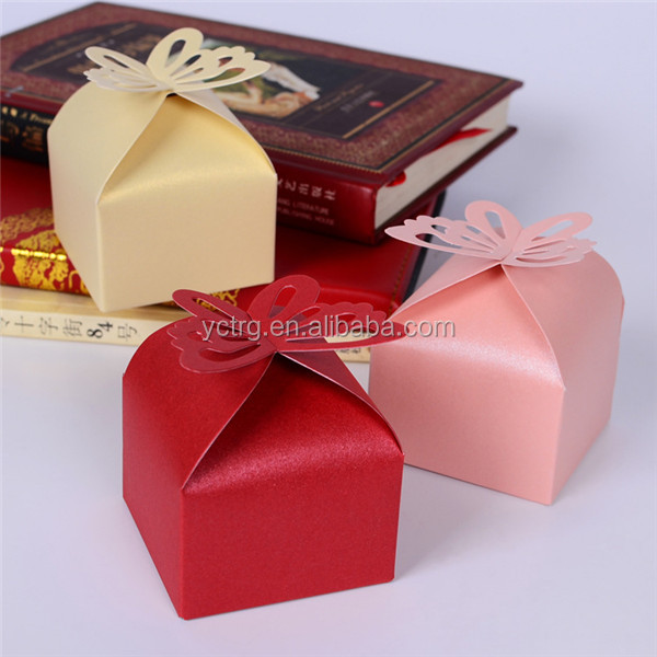 Promotional Butterfly Paper Wedding Candy box