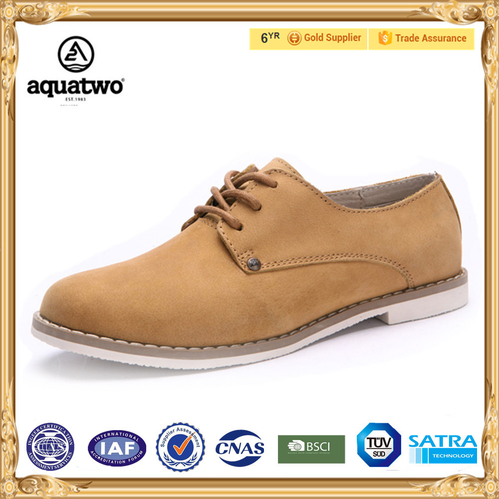 2017 New Arrival Aquatwo Brand Genuine Leather Women Dress Shoes For Ladies