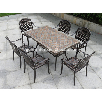 Peachy All Weather Outdoor Furniture Patio Cast Aluminum Ceramic Tile Table With 6 Seater Buy Outdoor Furniture Patio Cast Aluminum Outdoor Furniture Patio Theyellowbook Wood Chair Design Ideas Theyellowbookinfo