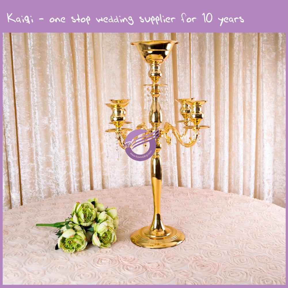 Zt cheap wholesale wedding centerpieces gold metal
