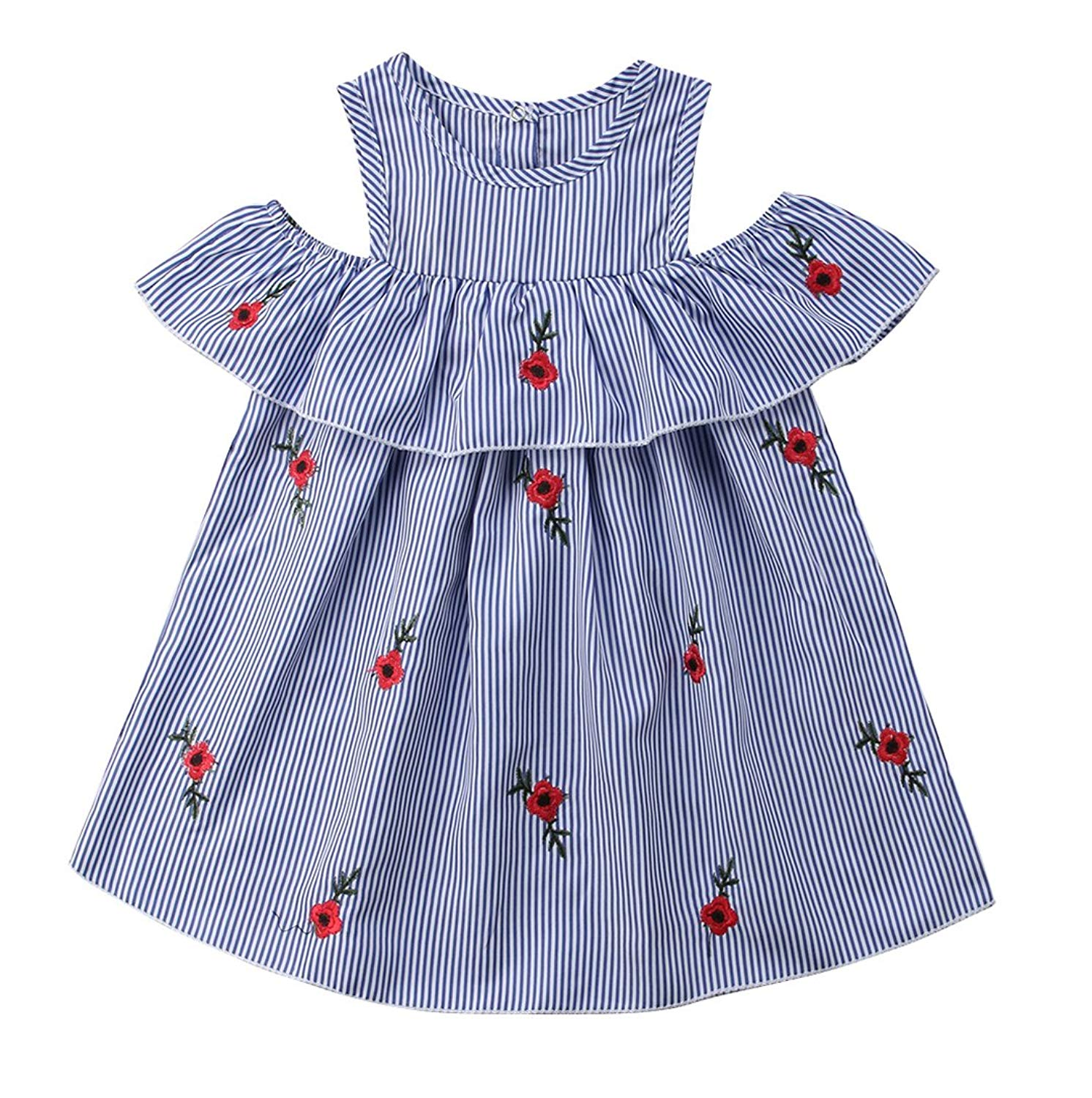 4f5694ca94a5 Buy Faithtur 2-7 Years Toddler Girls Striped Dress