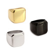 Simple Ring 316L Titanium Steel Ring Blank Plain Fashion Jewelry Gold/Silver/Black Color Punk Style Gifts New Men Ring