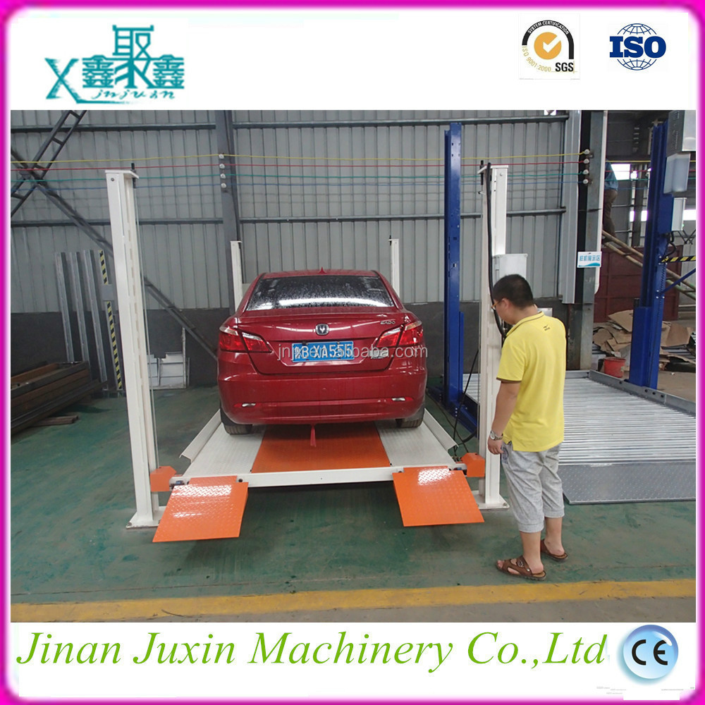 Electric Fixed Double Mast Garage Used Car Parking Lift