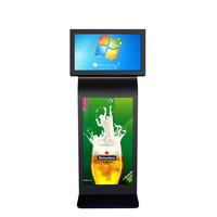 "42"" inch backlight touch screen floor stand advertising digital lcd signage kiosk flat screen player"
