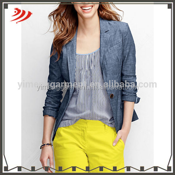 Long sleeves women spring coat denim coat for women