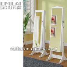fashion cheap furniture white high quality cheval mirror jewelry armoire