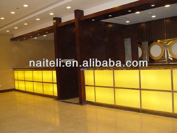 Hot Sale Backlit Artificial Stone Polymer Countertops