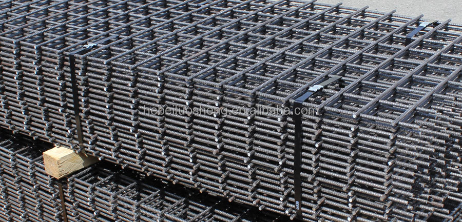500 Mpa Ribbed Reinforcing Steel Wire Mesh For Concrete ...