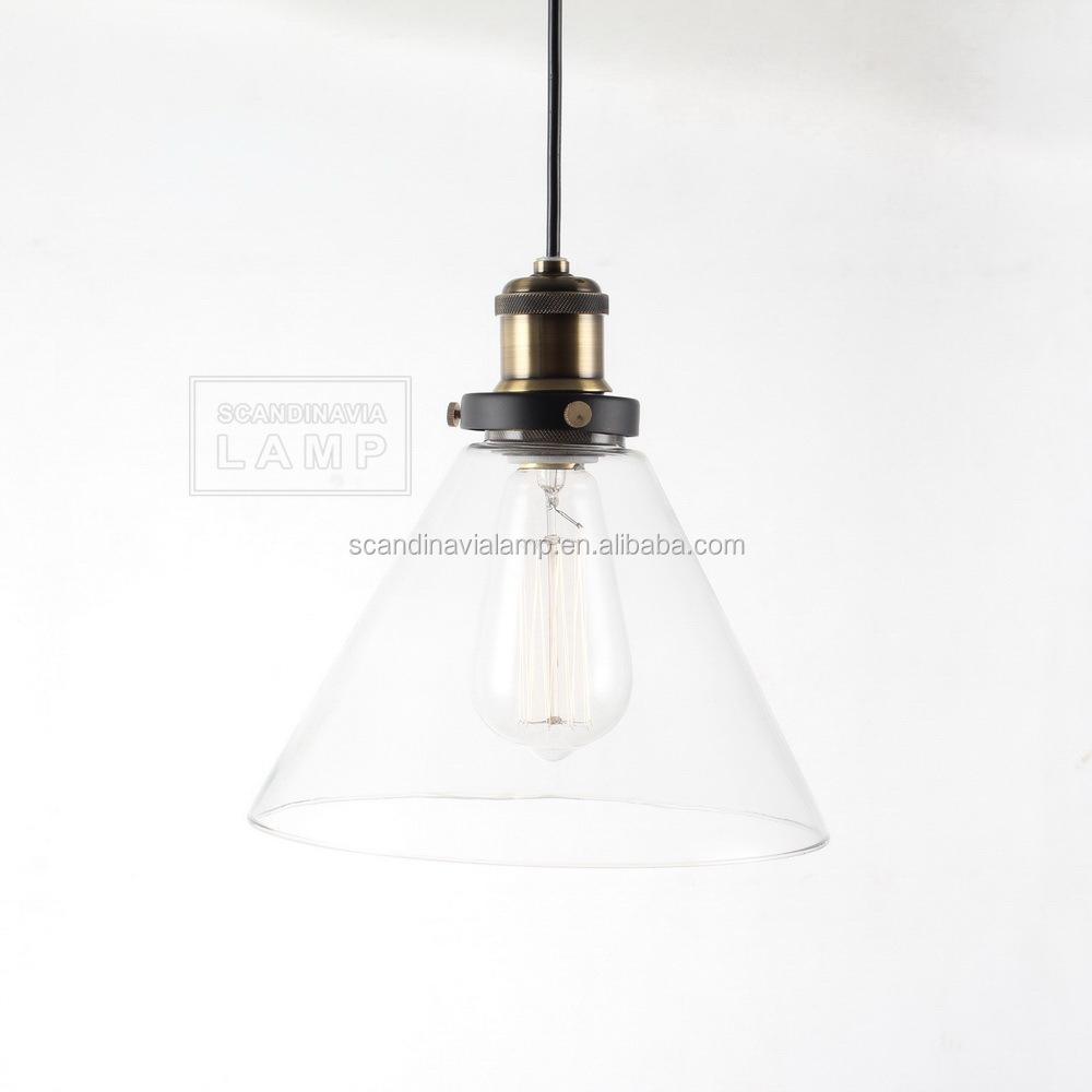 Manufacturer's Glass Cylinder Lamp Shade Pendant Lighting