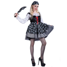 2017 New Arrival lovely Halloween Party Pirate Cosplay Costumes For Women Girls