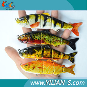 wholesale lively body design metal-linked jointed salt water fishing tackle led fishing lure