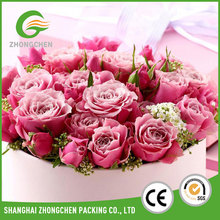 White round transparent flower gift cone box set malaysia for flowers