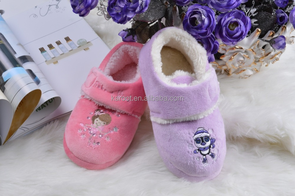 cheap 2016 boy girl cute indoor kid child baby slipper casual shoes
