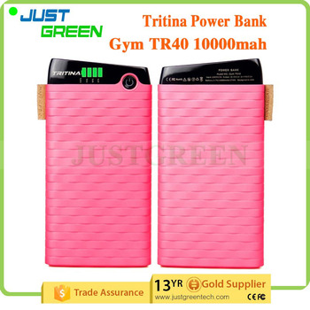 Justgreen mobile phone smart power bank Two USB Output best power bank 10000mah battery backup power bank